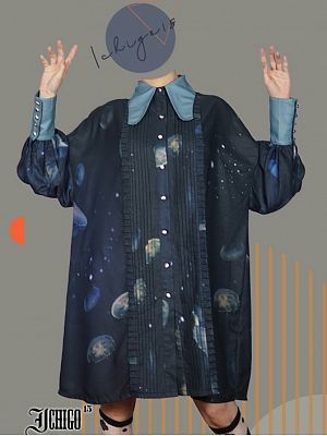 Custom Size Available Sea Moon Jellyfish Ouji Lolita Long Shirt by Ichigo
