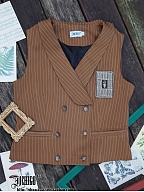 Custom Size Available Autumn Puzzle Vintage Vest by Ichigo