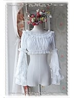 Cropped Strapless Removable Sleeves Lolita Blouse - by Infanta