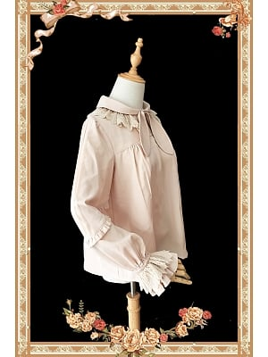 Bowtie Neckline with Lace Decorated Lolita Blouse by Infanta