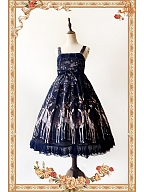 Elk Print Dreamy Lolita Dress Gothic Lolita JSK by Infanta