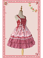 Strawberry Buffet Dot Lolita Dress JSK by Infanta