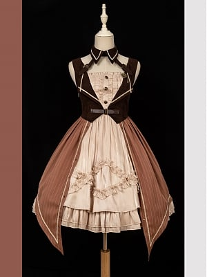Icing Gear Steam Punk Lolita Dress JSK Full Set by Iris Island
