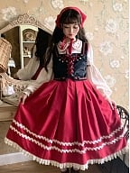 Ranch Maiden Country Lolita Skirt Set SK / Vest by Jellyfish Lolita