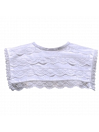 Round Neckline White Lace Collar by Lady Capricorn