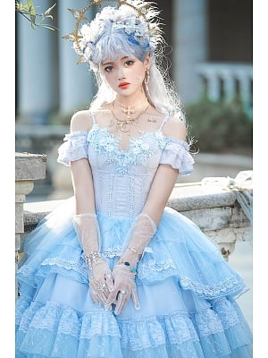 Song Gorgeous Hanayome Lolita Dress Full Set by Lefluor