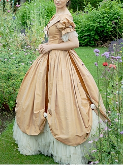 Victorian Historical Formal Dress Vintage Ball Gown by Lace Garden