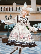 Streetlight Bunny Empire Waist Lolita Dress OP by Lineall Cat
