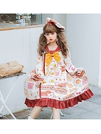 Avocado Breakfast Sweet Lolita Dress OP by Lineall Cat