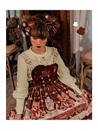 Bunny Ears Back Sweet Lolita Shirt by Lineall Cat