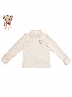 Pillow Bear Long Sleeve Sweet Lolita Shirt by Lullaby