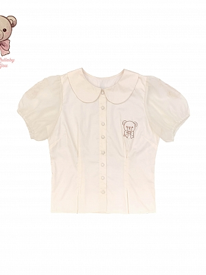 Pillow Bear Short Sleeve Sweet Lolita Shirt by Lullaby