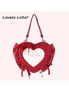 Sweetheart Candy Heart Shaped Lolita Bag by Lovely Lota