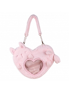 Bunny Plush Heart Shaped Pain Bag by Lovely Lota