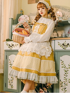 Autumn Ballad Lolita Dress Matching Apron by Maple Algae Lolita