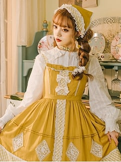 Autumn Ballad Lolita Dress Matching Scarf by Maple Algae Lolita