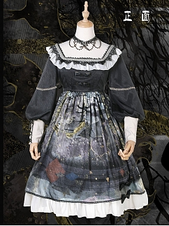 Forest Deer Lolita Dress OP Daily Version by Maple Algae Lolita