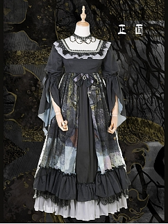 Forest Deer Lolita Dress OP Empire Waist Version by Maple Algae Lolita
