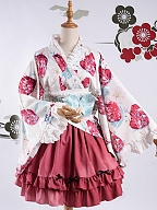 Symbiotic Relationship Kimono Wa Lolita Top by Maple Algae Lolita