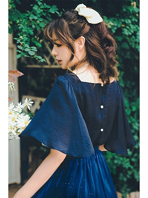 Flowy Sleeves Summer Blouse by Miss Egg