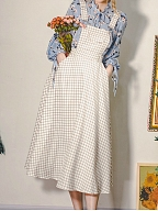 Best Seller Autumn and Winter Cotton Vintage Overall Dress by Miss Egg
