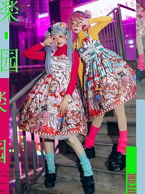 Harajuku Style Paradise Monster Y2K Lolita Dress JSK by Mushroom House Lolita