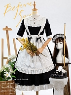Afternoon Tea Time Lolita Dress OP Apron Set by Maiden's Island