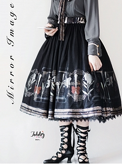 Anonymous Greeting Lolita Skirt by Mirror lmage Lolita