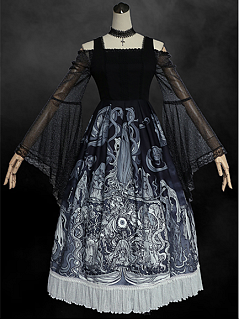 Soul Eater Palace Halloween Gothic Square Neckine Lolita Dress JSK by MILU Original