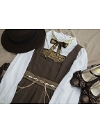 Inlay with Golden Elegant Qi Lolita Dress JSK by Mirror Miracle