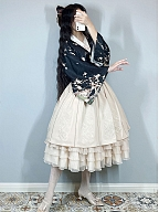Inlay with Golden Elegant Qi Lolita Skirt by Mirror Miracle
