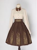 Inlay with Golden Elegant Lolita Apricot Shirt by Mirror Miracle