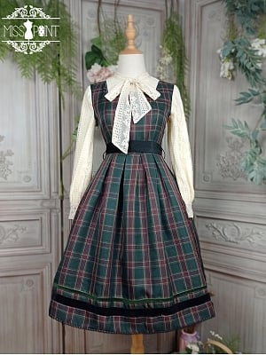 Ode To Joy Plaid Lolita Dress JSK by Miss Point Custom Size Available
