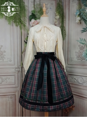 Ode To Joy Plaid Lolita Skirt by Miss Point Custom Size Available