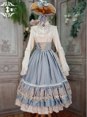 Custom Size Available Gorgeous Elizabeth Lolita Skirt New Color by Miss Point