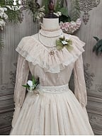 Tulip Elegant Leg-of-mutton Sleeves Lolita Blouse by Miss Point Custom Size Available