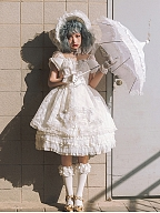 The Falling Feather Daily Version Lolita Dress OP by MoiMoiHoney