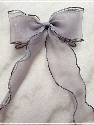 The Butterfly Lolita Dress Matching Bowknot Hairclip by Moon River