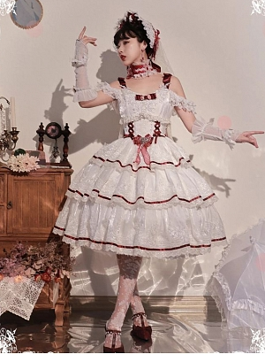 Rose for Love Hanayome Elegant Lolita Dress JSK Full Set by Mousse Cat