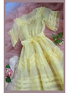 Romantic Silk Organza Sweet Vintage Two Pieces Dress - Charlotte by Mu Qiao's Vintage