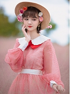 Anna's Holiday Organza Vintage Bowknot Decorated Neckline Dress by Mu Qiao's Vintage