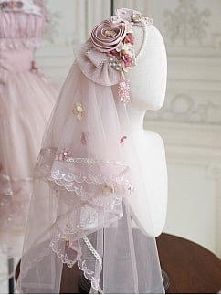Dolly Little Rose Elegant Lolita Dress Matching Veil / Train by Miracles