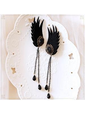 Gothic Lolita Steamunk Small Devil Wings Ear Clips by Mr.Cat