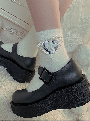 Baroque Style Angel Plush Lolita Socks by Ms. Sox