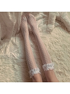Girls Flounce Lace Lolita Stockings by Ms. Sox