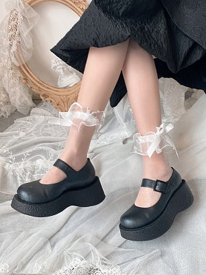 Flounce Ankle Tulle Lolita Socks by Ms. Sox