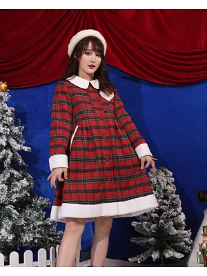Autumn and Winter Vintage Plaid Coat by Milk Tooth Studio