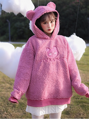 Plush Padded Sweater Coat with Hood by Milk Tooth Studio