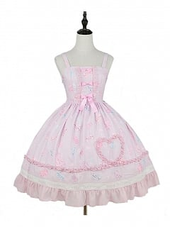 Jelly Bear Square Neckline Sweet Lolita Dress JSK by Magic Tea Party