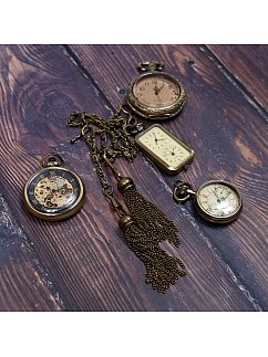 Vintage Pocket Watch Chain Accessories by Mr. Yi's Steamland